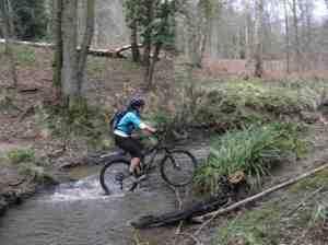 Jane making short work of the stream